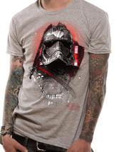 Grey Star Wars 8 The Last Jedi Captain Phasma Mens T-Shirt Top S