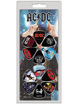 Ac/Dc Guitar Pick Set One Size 12 Pack One Size