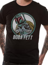 Black Green Star Wars Boba Fett Mens T-Shirt Top M