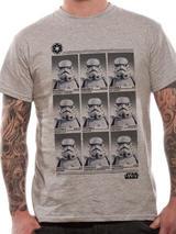 Grey Star Wars Storm Trooper School Yearbook Mens T-Shirt Top 2XL