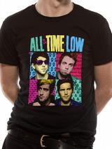 All Time Low Mens T-Shirt Top Licensed Merchandise Pop Art L