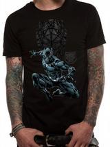 Marvel Black Panther Shield Logo Mens T-Shirt Top XL