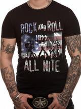 Kiss Mens T-Shirt Top Licensed Merchandise Rock N Roll All Nite M