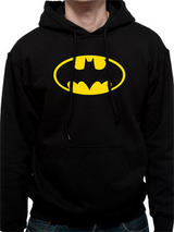 Batman Hooded Sweatshirt Hoody Hoodie Jumper Logo L