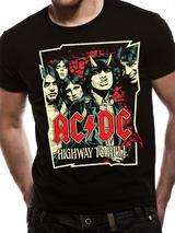 AC/DC High Way To Hell Band Cartoon Mens T-Shirt Top M