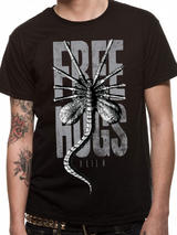 Alien Mens T-Shirt Top Licensed Merchandise Free Hugs S