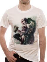 Joker & Harley Quinn Graffiti Art Mens T-Shirt Top M