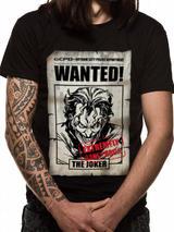 Batman Joker Wanted Poster Mens T-Shirt Top S