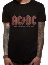 AC/DC Let There Be Rock Mens T-Shirt Top S