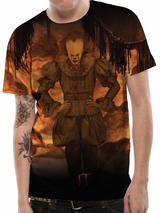 It Flames Halloween Pennywise T-Shirt Top M