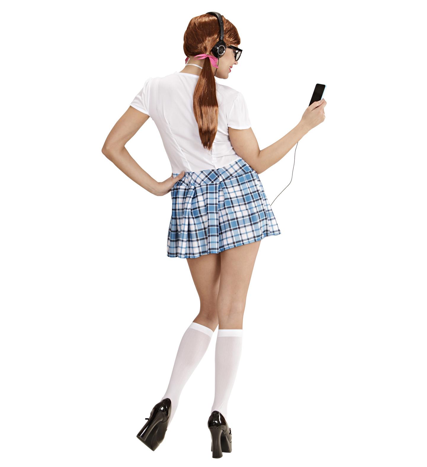 Ladies Geek Nerd Fancy Dress Costume School Girl Hen Do