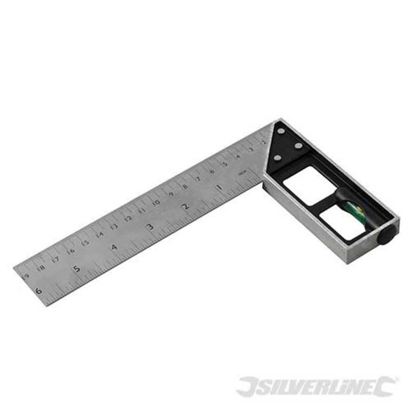 Silverline Tri & Mitre Square With Spirit Level 150Mm