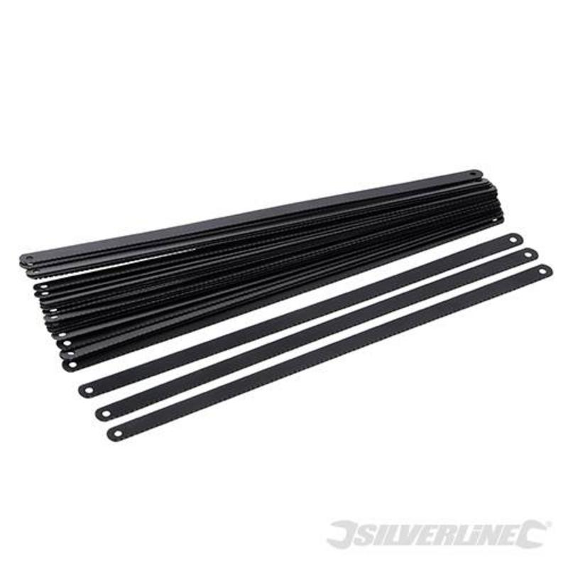 Silverline Carbon Steel Hacksaw Blade 300Mm 24Tpi Pack Of 24