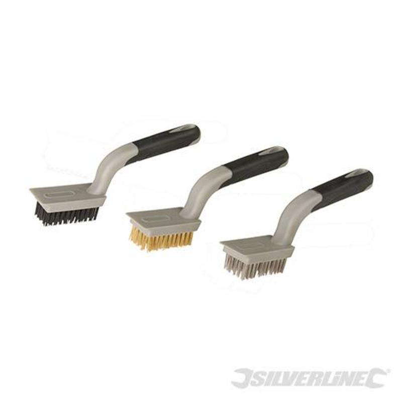 Silverline 3-Piece Medium Wire Brush Set