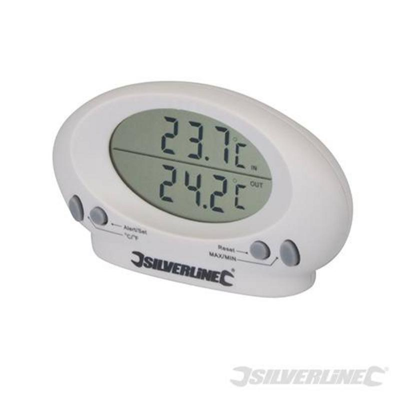 Silverline Indoor & Outdoor Thermometer -50?C To 70?C