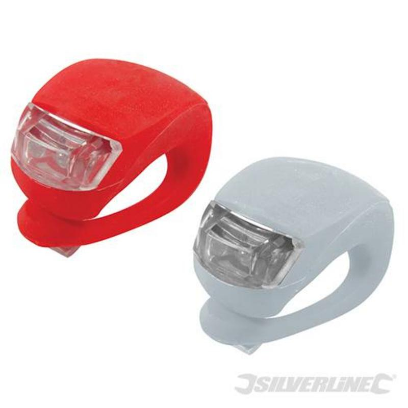 Silverline Clip On Led Bike Lights Pack Of 2