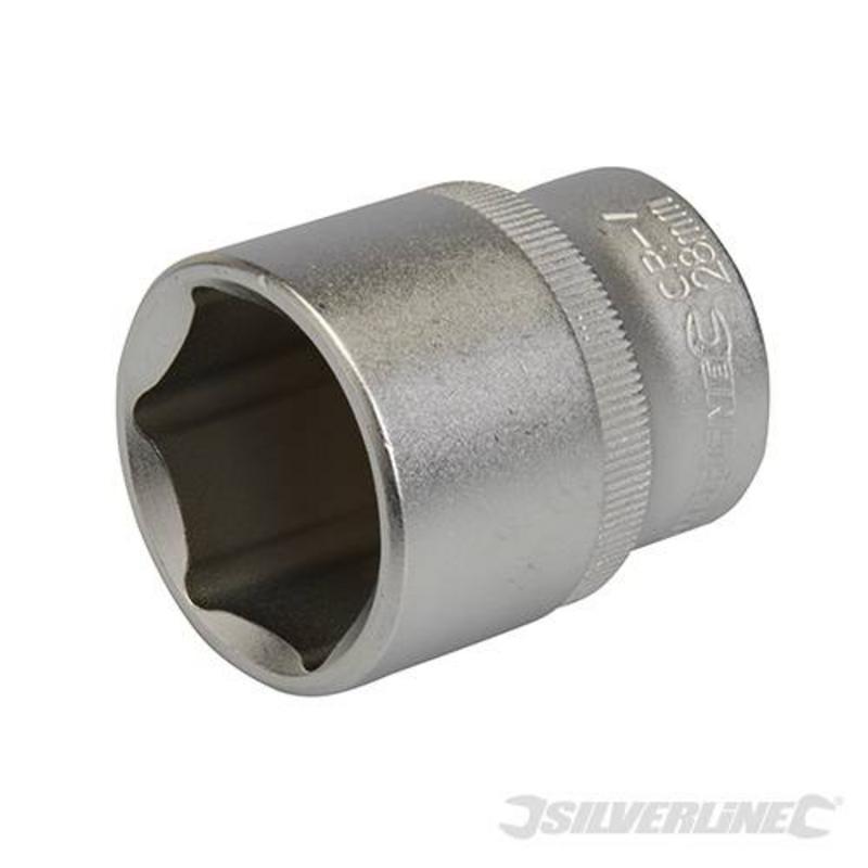 """Silverline 1/2"""" Drive Metric Socket 28Mm"""