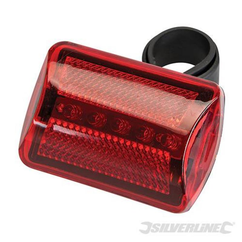 Silverline 5 Led Red Bike Lamp