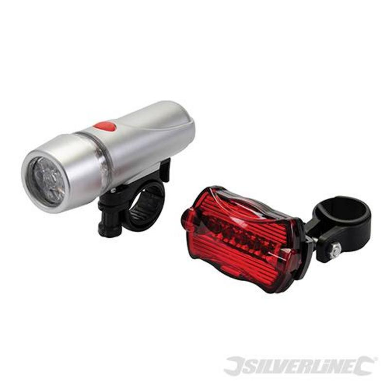 Silverline Bike Lights 5 Led