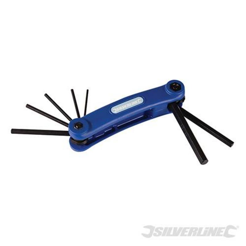 "Silverline 7 Piece Hex Key Imperial Tool 3/32"" - 3/8"""
