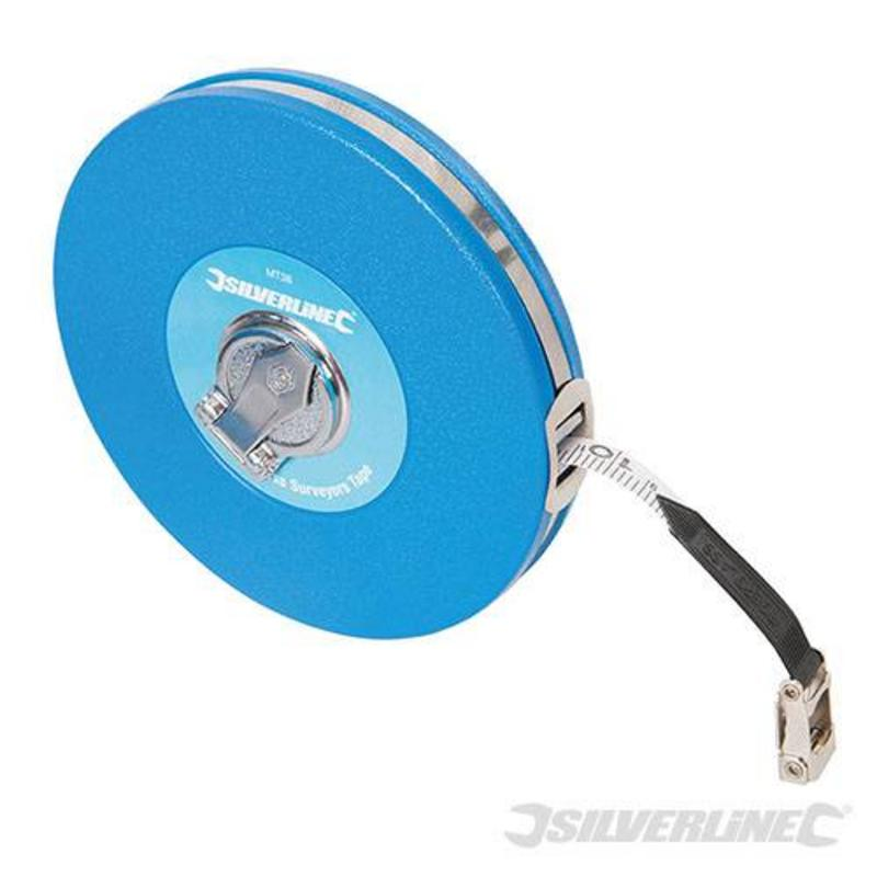 Silverline Fibreglass Surveyors Measuring Tape 30M