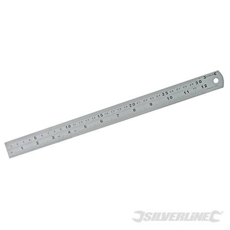 Silverline Steel Ruler 300Mm