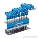 Silverline 10 Piece Hex Key T-Handle Set 2-10Mm