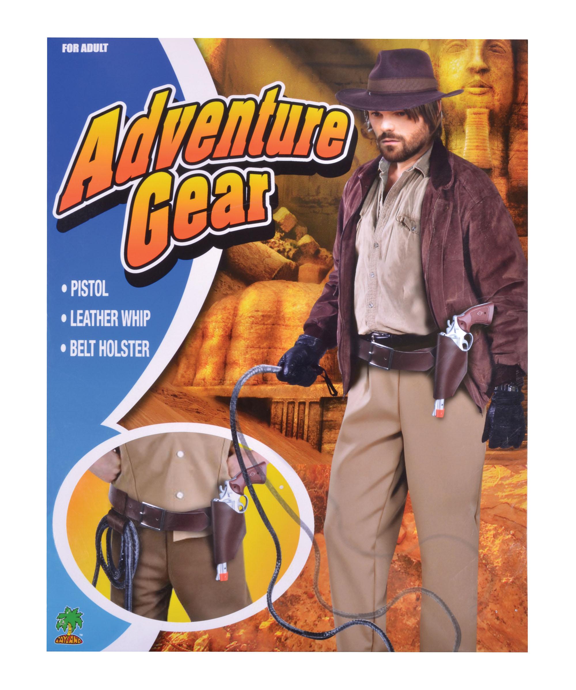 Sentinel Indiana Jones Adventurer Holster + Whip Belt Set Fancy Dress  Costume Props 4fd4738e1ec
