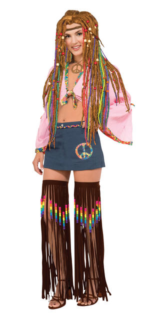 Ladies Womens Hippie Leg Garlands Beaded/Fringed - Set of 2 Fancy Dress