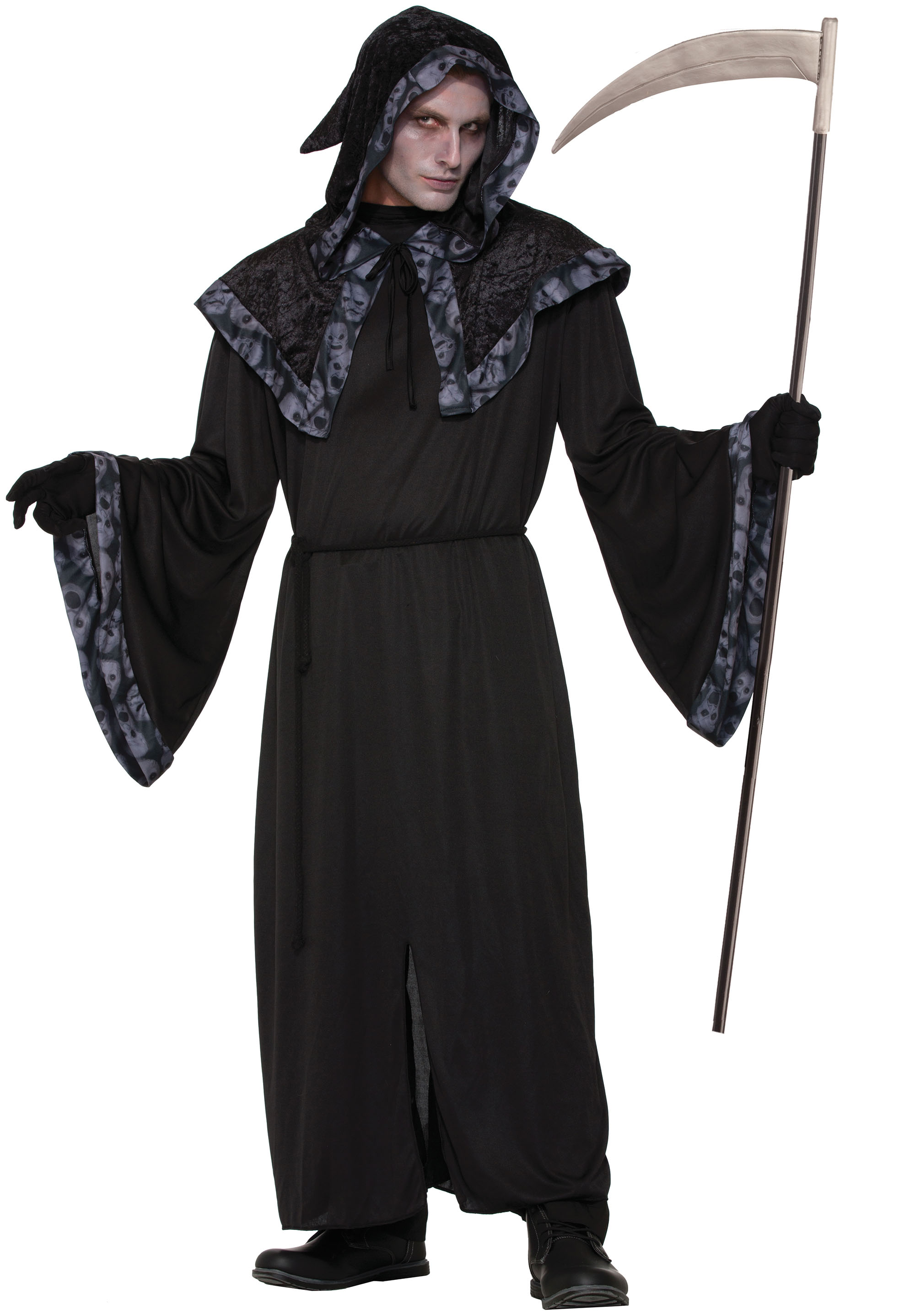 Ladies Womens Spirits & Souls Robe Fancy Dress Costume Halloween UK 10-14