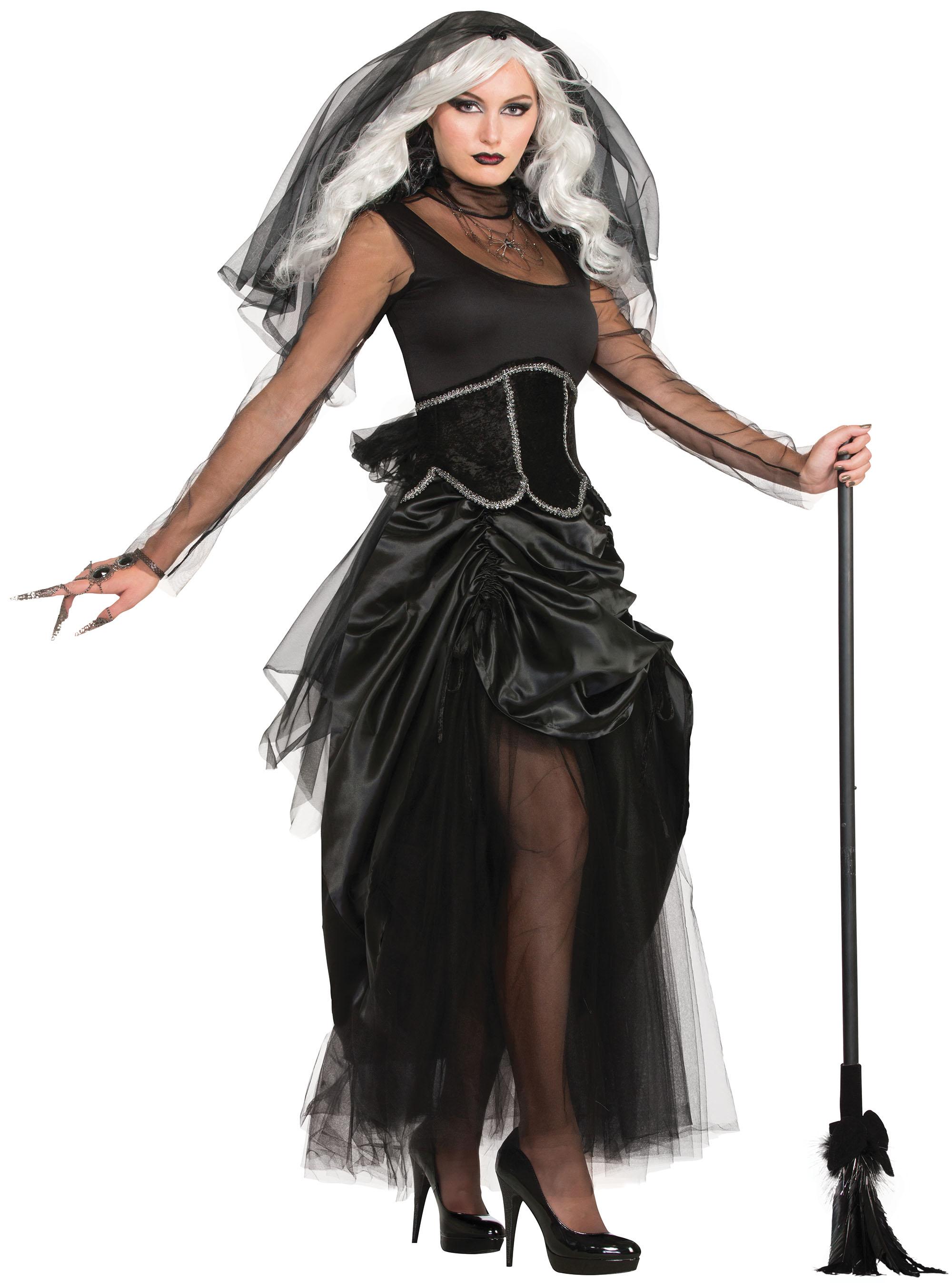 Ladies Shadow Ghost Fancy Dress Costume Halloween Womens Outfit UK 10-14
