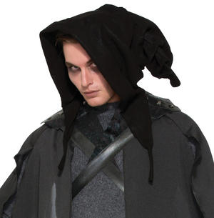 Black Halloween Hood For Wizard or Witch Halloween Fancy Dress Costume