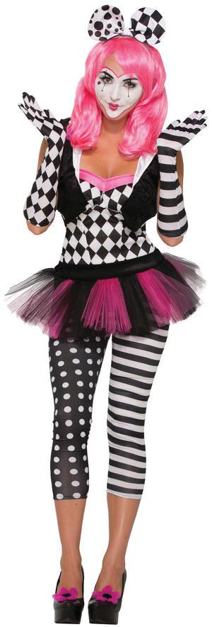 Harlequin Clown Opera Gloves Headband Halloween Fancy Dress Costume Prop