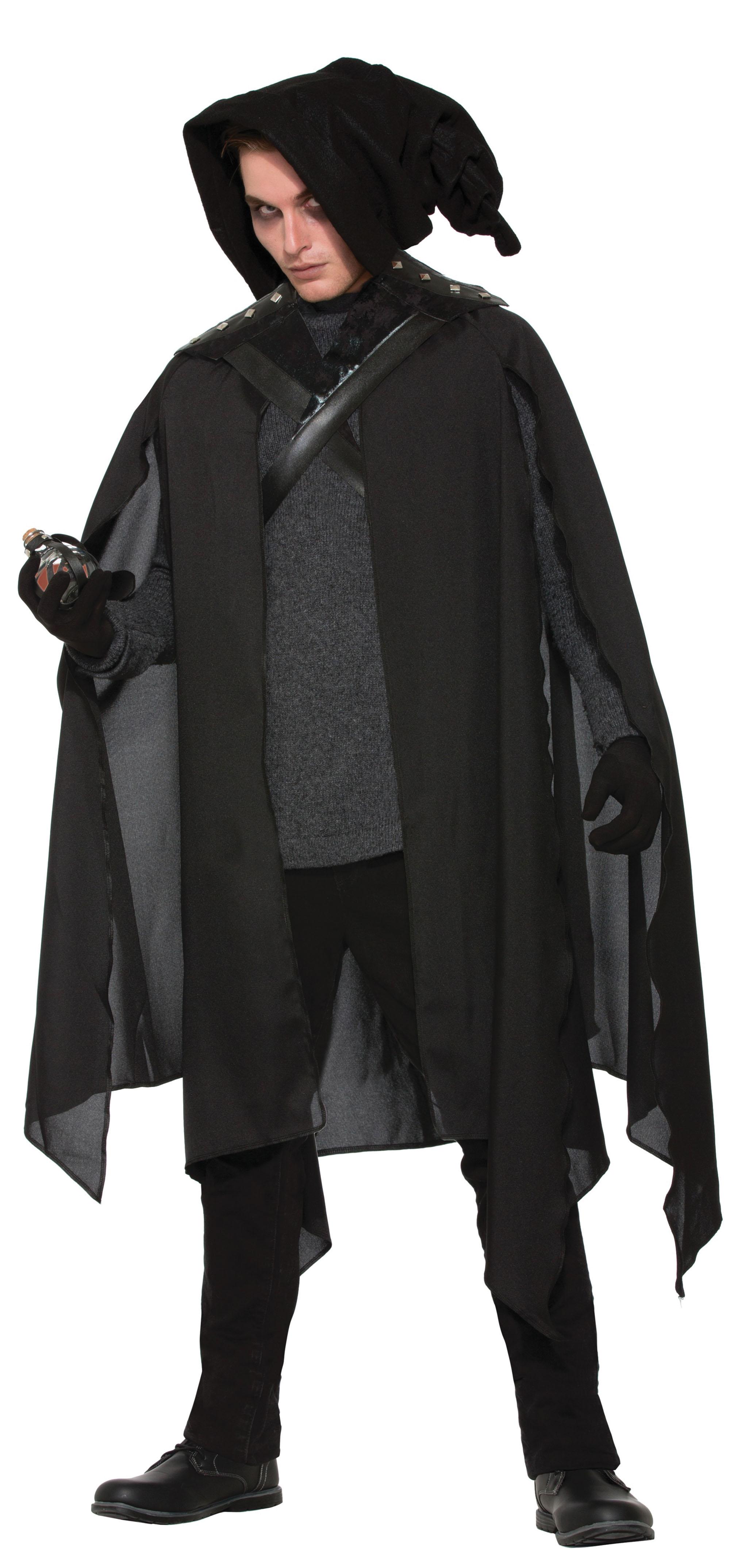Wizard Warlock Cape Mens Womens Halloween Fancy Dress Costume Prop