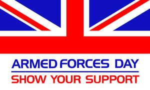 Armed Forces Day 3' X 2' 3ft x 2ft Flag With Eyelets Premium Quality