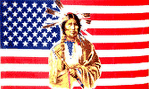 American Usa With Indian 3' X 2' 3ft x 2ft Flag With Eyelets Premium Quality