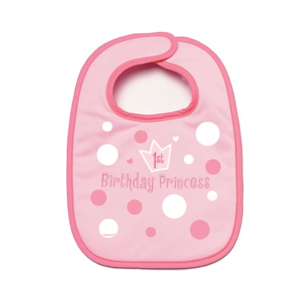 Amscan 1St Birthday Princess Bib Baby Girl Party Accessory Gift Pink