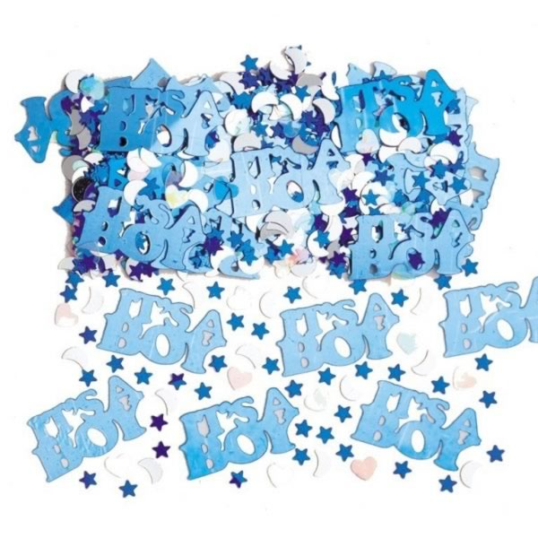 Amscan It?S A Boy Confetti Baby Shower Table Party Decoration Silver & Blue