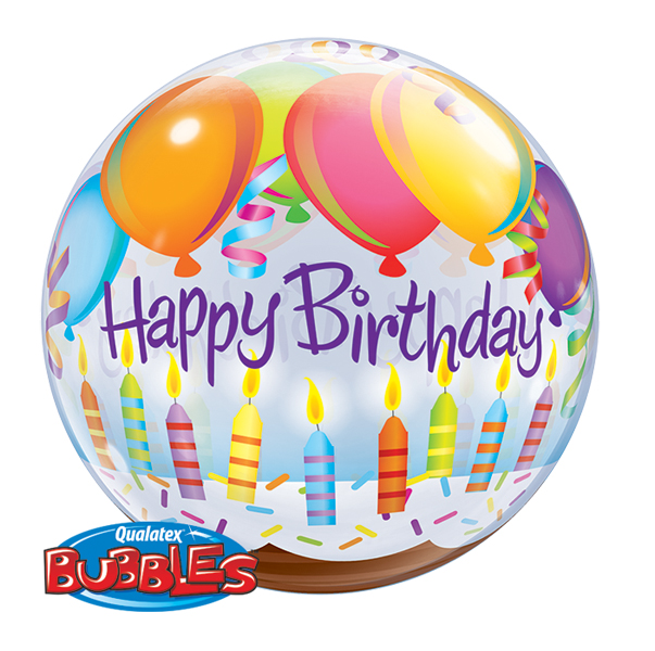Details About Qualatex 22 Single Bubble Birthday Balloons Candles Balloon Party Decoration