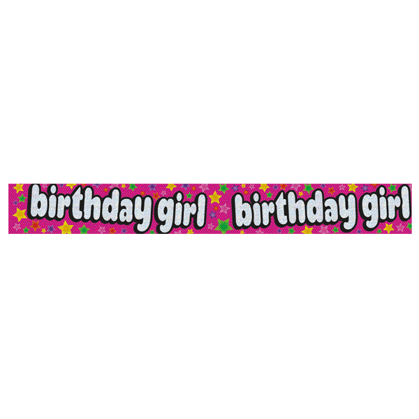expression factory holo foil star birthday girl banner party