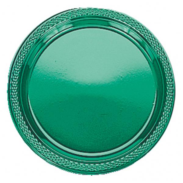 Amscan Plastic Plates 17.7cm - Festive Green | eBay