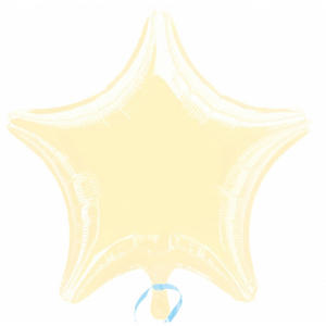 "Anagram 4"" Star Foil Wedding Party Baby Shower Balloon Decoration Ivory"