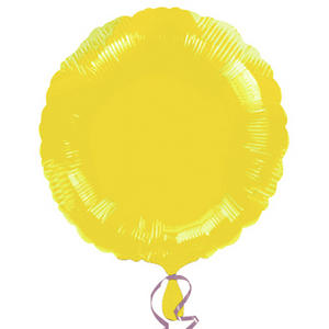 "Anagram 18"" Circle Foil Wedding Baby Balloon Birthday Party Decoration Yellow"