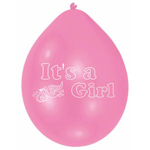 Amscan Minipax Its A Girl Baby Shower Balloon Party Decoration Pack Pink