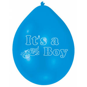 Amscan Minipax Its A Boy Baby Shower Balloon Party Decoration Pack Blue