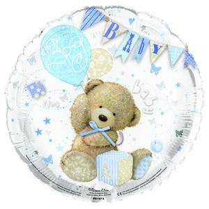 "Simon Elvin 18"" Foil Its A Boy Teddy Balloon Baby Shower Party Decoration Blue"