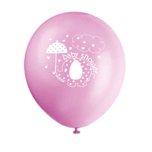 "12"" Latex Umbrella Elephants Balloon Baby Shower Party Decoration Pink"