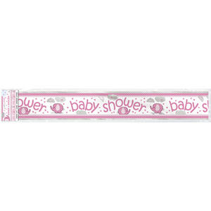 Foil Baby Shower Elephant Banner Mum To Be Party Celebration Decoration Pink