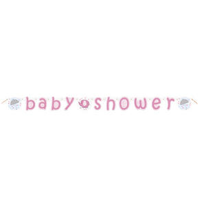 Elephant Baby Shower Letter Banner Mum To Be Party Celebration Decoration Pink