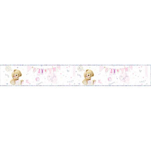 Simon Elvin Foil Teddy Baby Girl Banner New Baby Party Banner Decoration Pink